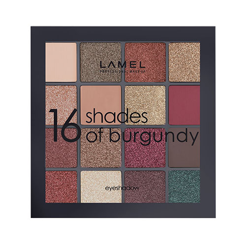 Набор теней для век `LAMEL PROFESSIONAL` 16 SHADES OF BURGUNDY тон 16-2