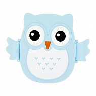 Ланч-бокс `FUN` OWL blue 16 см